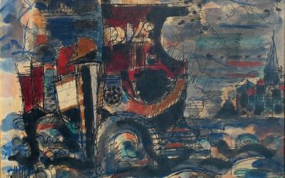 Gromaire 1943 sans titre Aqu.marouf.sur toile 24,5x33 SDbg