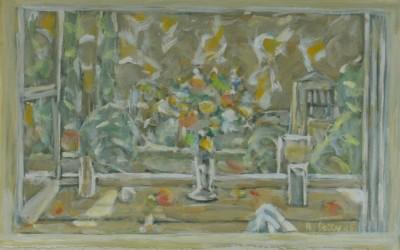 1985 Bouquet devant la fenêtre  ph.g. 16x25,5 SDbd