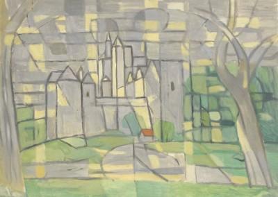 HSeiler-Château de Fayrac, huile sur carton(24x33)-1950