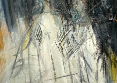 IM Deux personnages 2013 huile sur toile 100X81