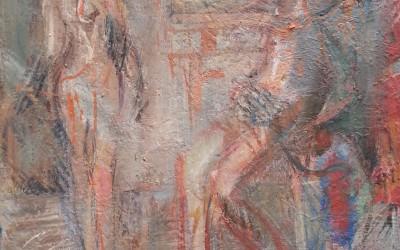 Melchior Deux personnages 1999 huile sur toile 45x61cm