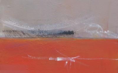 Melchior Les Champs Rouges 2012 huile sur toile
