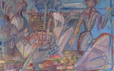 Melchior Les fileuses 2015 huile sur toile 81X65cm.ARW