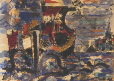 MGromaire-aquarelle-encre-1943