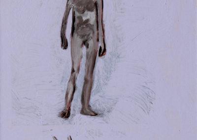 Garçon, 2010, Technique mixte sur papier, 28 x 21,4 cm, 300 € - copie