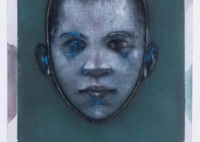 GOD BRADBER4 Imago-Cameo Blue#3 76X57 CM 2018 CHINAGRAPH -PASTEL - copie