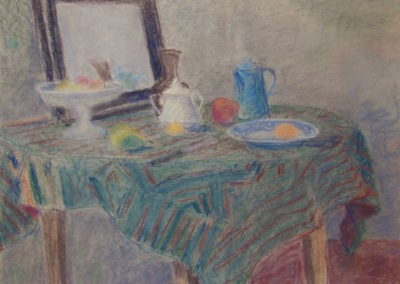 Remzi-vue sur table, pastel