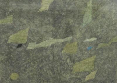 GSingier-Papier froissé-migration, sable, eau IV-1960